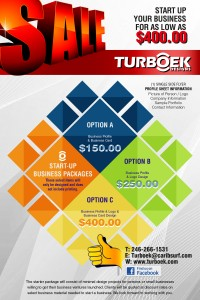 Turboek Start-Up Package Advertisement