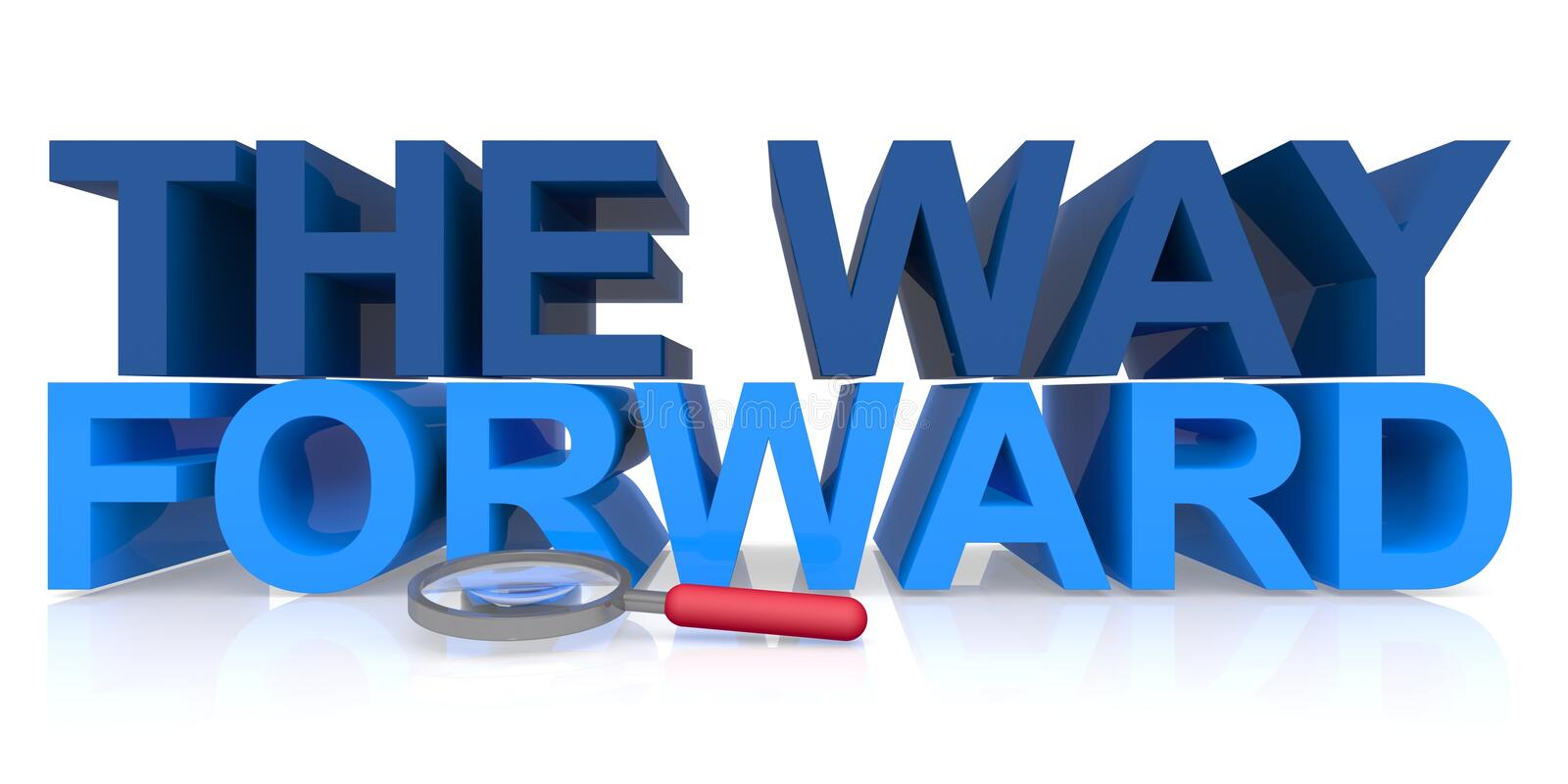 way forward white way forward word white background 205291869